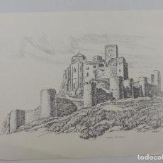 Arte: LAMINA CASTILLO DE LOARRE- FREIXAS. Lote 224618812
