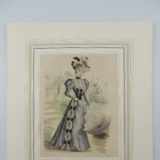 Arte: ANTIGUA LAMINA DE LA REVISTA LA MODA ELEGANTE ILUSTRADA 6 DE MARZO 1897 NUMERO 9. Lote 224622090