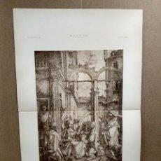 Arte: ADORACION DE LOS REYES MAGOS DE LUCAS VAN LEYDEN, MEISTER ALBERTINA, PLANCHA 675-676. Lote 224877102