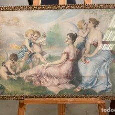 Arte: BONITA LAMINA SOBRE CARTÓN. 72X43CM. Lote 225236680