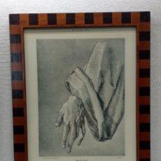 Arte: MANO DE APOSTOL DE DURERO, MEISTER ALBERTINA, PLANCHA Nº 214, MONTAJE CUADRO. Lote 225560328