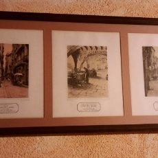 Arte: LAMINAS DE LA BARCELONA ANTIGUA ENMARCADAS (REPRODUCCIÓN). Lote 225879221