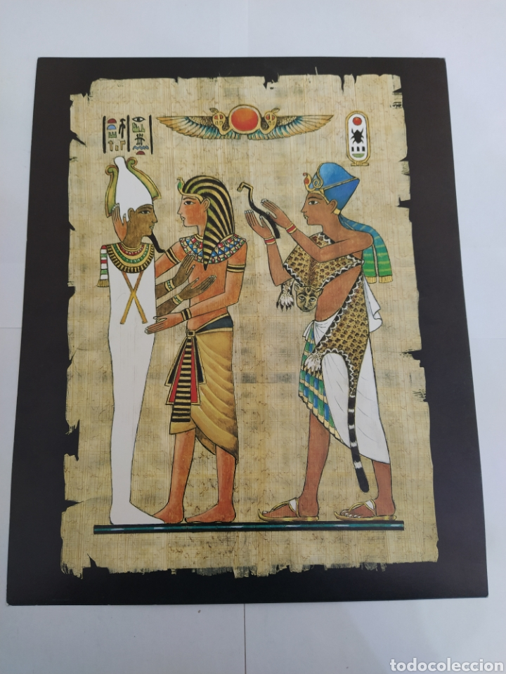 Arte: LOTE LAMINAS EGIPCIAS - L.G. TALLEDA BARCELONA - 24X30 CM - Foto 6 - 226135045