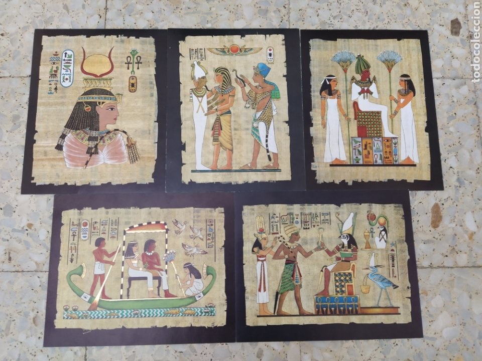 LOTE LAMINAS EGIPCIAS - L.G. TALLEDA BARCELONA - 24X30 CM (Arte - Láminas Antiguas)