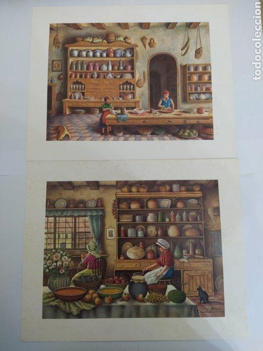 LOTE DE 2 LAMINAS L.G. TALLEDA BARCELONA - 24X30 CM (Arte - Láminas Antiguas)
