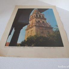 Arte: LAMINA ANTIGUA VINTAGE MEZQUITA DE CORDOBA 1959 TOWER OF THE CATHEDERAL CORDOBA SILEX MADRID EDICIÓN. Lote 226507635