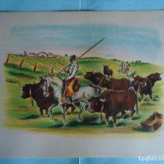 Arte: ANTIGUA LAMINA DE TAUROMAQUIA PERFECTA PARA ENMARCAR. AÑOS 50. FIRMADA POR CONCEJO. Nº 1. Lote 226647175