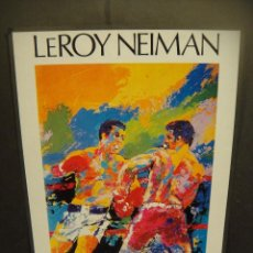 Arte: POSTER LEROY NEIMAN - ALI - SPINKS -. Lote 227269375