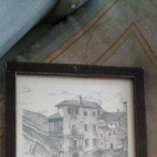 Arte: LAMINA TIPO DE PLUMILLA DE LAS CASAS COLGADAS DE CUENCA. Lote 227988505