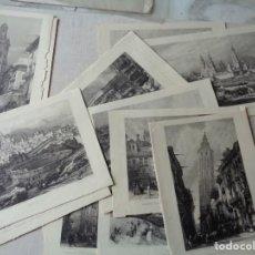 Arte: QUINCE LAMINAS PROCEDENTES DE UN LIBRO SOBRE 1850.- REFª865. Lote 228260225