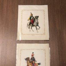 Arte: LAMINA CARTULINA IMPERIO AUSTRIACO 1840 Y REPUBLICA FRANCESA 1797 (TROQUELADO EN RELIEVE)40X33CM. Lote 228870580