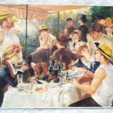Arte: ★1★LÁMINA; EL ALMUERZO DE LOS REMEROS; PIERRE AUGUSTE RENOIR 1881.. Lote 229986735