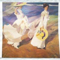 Arte: ★1★LÁMINA; PASEO A ORILLAS DEL MAR; JOAQUÍN SOROLLA Y BASTIDA 1909.. Lote 229991580