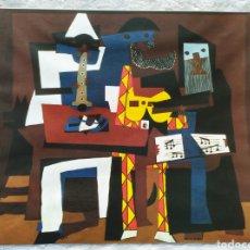 Arte: ★1★LÁMINA; LOS TRES MUSICOS; PABLO PICASSO 1921.. Lote 229992750