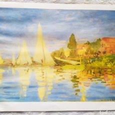 Arte: ★1★LÁMINA; REGATAS EN ARGENTEUIL; CLAUDE MONET 1872.. Lote 229993935