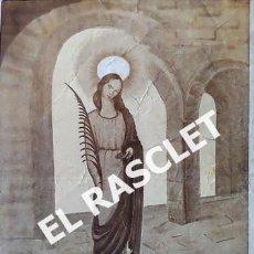 Arte: ANTIGUA LAMINA DE SANTA LUCIA - FIESTA DE SANTA LUCIA EN TARRASA - DICIEMBRE DE MCMXV -. Lote 230428880