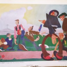 """Arte: LÁMINA """"BOLEO EN LAS ERAS DE LA CRUZ""""-EMILIANO LOZANO (1930).. Lote 231703035"""