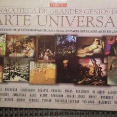 Arte: PINACOTECA DE GRANDES GENIOS DEL ARTE UNIVERSAL,TRIBUNA,32 LÁMINAS. Lote 234403575