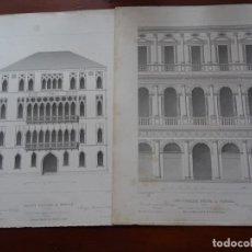 Arte: LAMINAS ARQUITECTURA, PROCURADURÍA, PALACIO FOSCANI, VENECIA. Lote 235644910