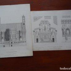 Arte: LAMINAS ARQUITECTURA, PALERMO, CATEDRAL Y CAPILLA PALATINA. Lote 235647065