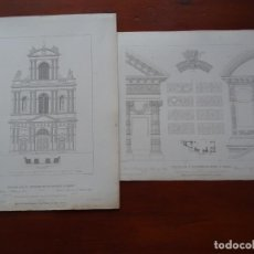 Arte: LÁMINAS ARQUITECTURA, PARÍS, SAN GERVASIO Y SAN ETIENNE. Lote 235647505