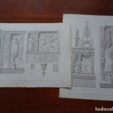 Arte: LAMINAS ARQUITECTURA, TUMBA CARDENALES ROUEN. Lote 235648180