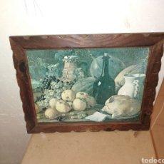 Arte: ANTIGUO CUADRO, CON MARCO DE CALIDAD. BODEGON. 48X38. Lote 235732975