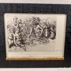 Arte: BATALLA DE LOS DIOSES DEL MAR DE ALBRECHT DURERO, MEISTER ALBERTINA, PLANCHA Nº 631, MONTAJE CUADRO. Lote 236311120