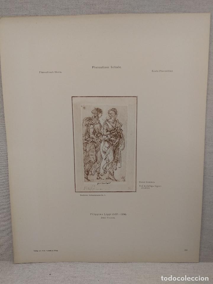 DOS MUJERES DE LIPPI, MEISTER ALBERTINA, PLANCHA Nº 893 (Arte - Láminas Antiguas)