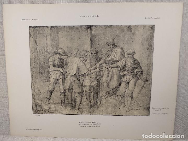 PARABOLAS A LOS VITICULTORES DE ANDREA DEL SARTO, MEISTER ALBERTINA, PLANCHA Nº 1368 (Arte - Láminas Antiguas)