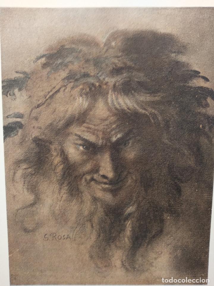 Arte: Cabeza de fauno de Salvator Rosa, Meister Albertina, plancha nº 314 - Foto 2 - 237153205