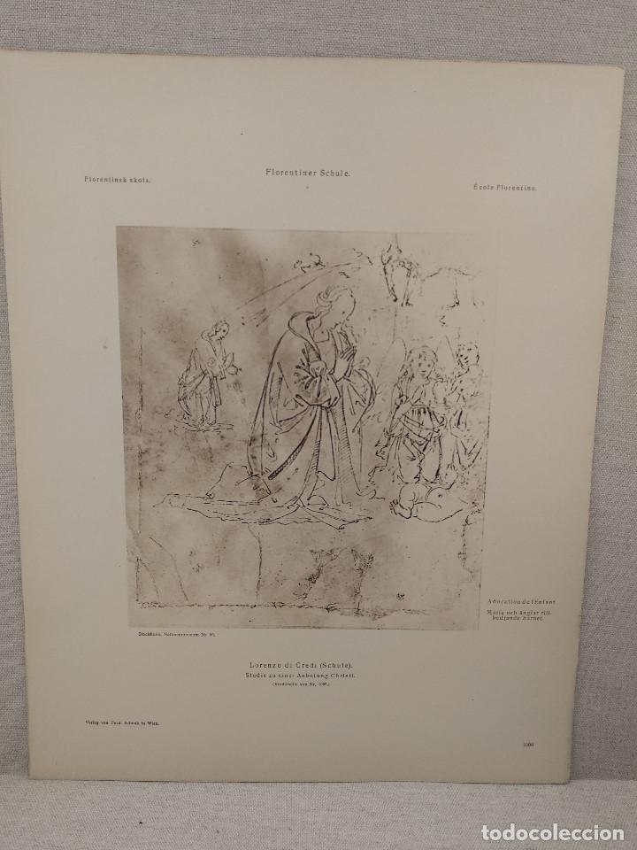 ESTUDIO DE MARIA DE LORENZO DI CREDI, MEISTER ALBERTINA, PLANCHA Nº 1098 (Arte - Láminas Antiguas)