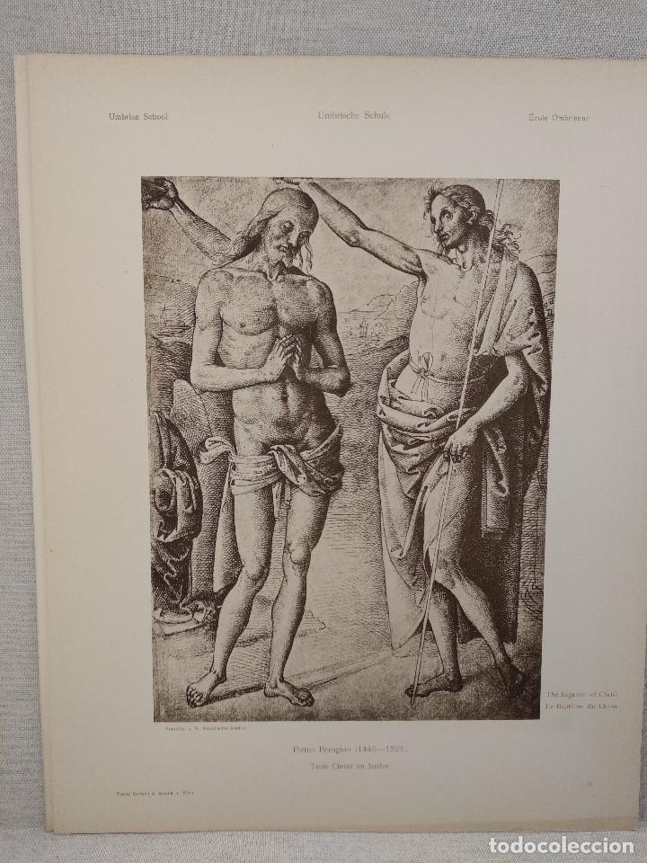 BAUTISMO DE CRISTO DE PIETRO PERUGINO, MEISTER ALBERTINA, PLANCHA Nº 463 (Arte - Láminas Antiguas)