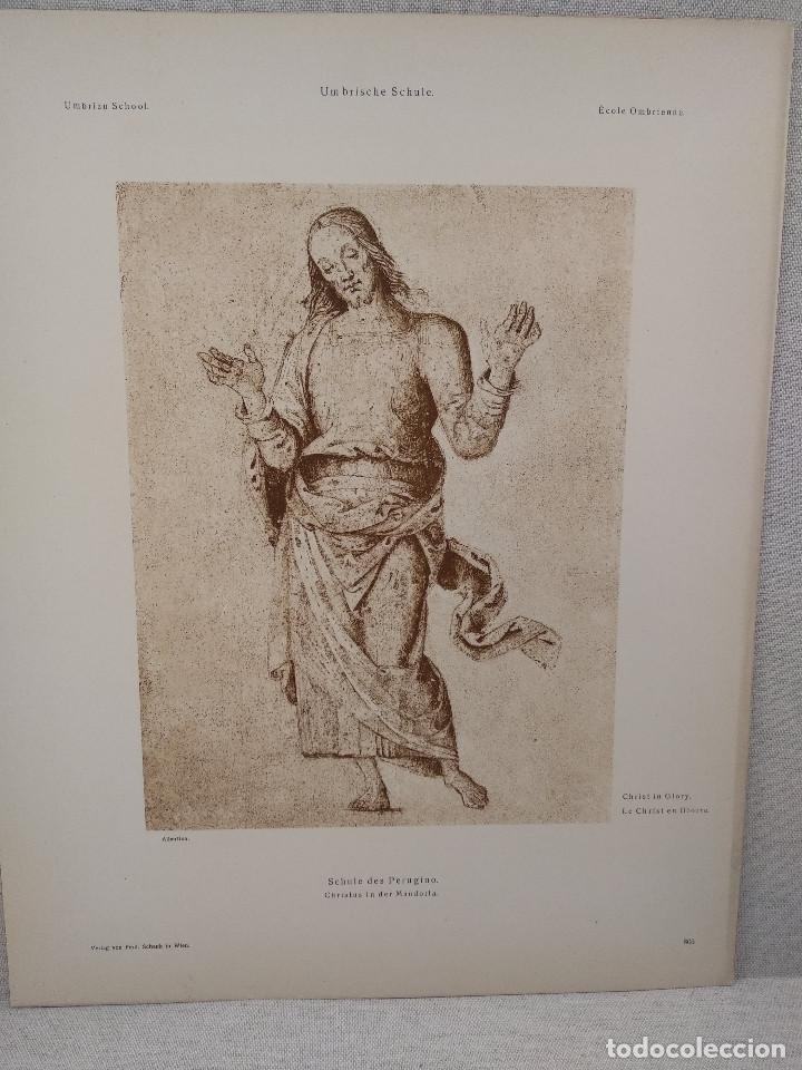 CRISTO EN GLORIA DE PIETRO PERUGINO, MEISTER ALBERTINA, PLANCHA Nº 803 (Arte - Láminas Antiguas)