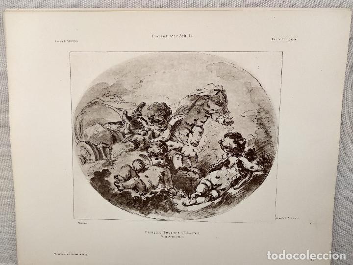 CUATRO AMORES DE FRANCOIS BOUCHER, MEISTER ALBERTINA, PLANCHA Nº 1209 (Arte - Láminas Antiguas)