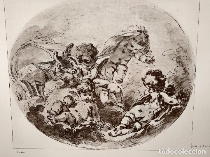 Arte: Cuatro amores de Francois Boucher, Meister Albertina, plancha nº 1209 - Foto 2 - 237371925