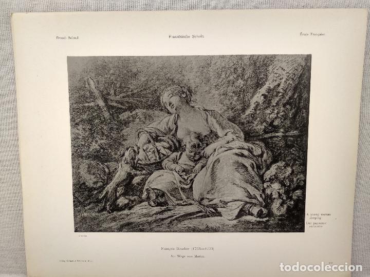 PAISANA DORMIDA DE FRANCOIS BOUCHER, MEISTER ALBERTINA, PLANCHA Nº 403 (Arte - Láminas Antiguas)
