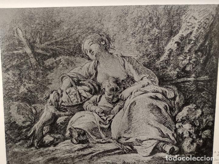 Arte: Paisana dormida de Francois Boucher, Meister Albertina, plancha nº 403 - Foto 2 - 237372385