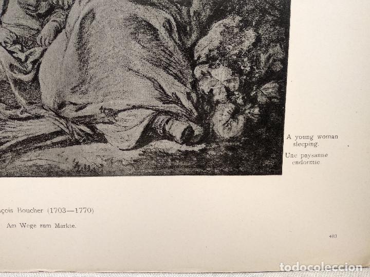 Arte: Paisana dormida de Francois Boucher, Meister Albertina, plancha nº 403 - Foto 3 - 237372385