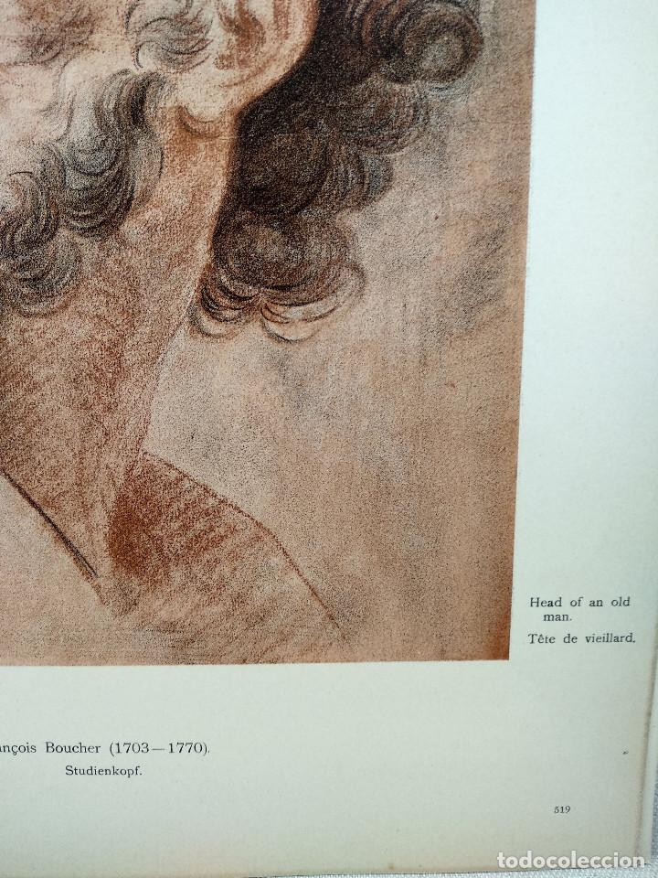 Arte: Estudio de cabeza de Francois Boucher, Meister Albertina, plancha nº 519 - Foto 3 - 237372755