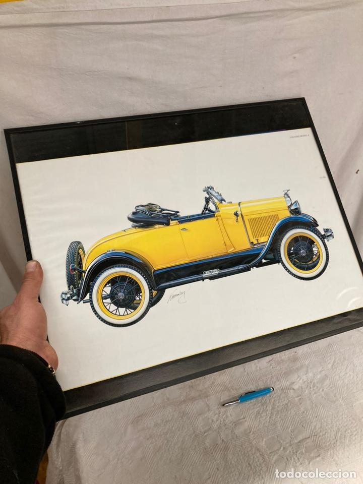 CARTEL ENMARCADO,( LAMINA)FORD A DE 1928! (Arte - Láminas Antiguas)