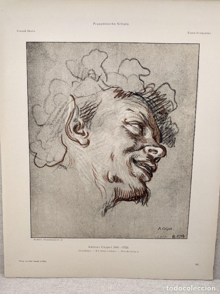 SATIRO DE ANTOINE COYPEL, MEISTER ALBERTINA, PLANCHA Nº 952 (Arte - Láminas Antiguas)