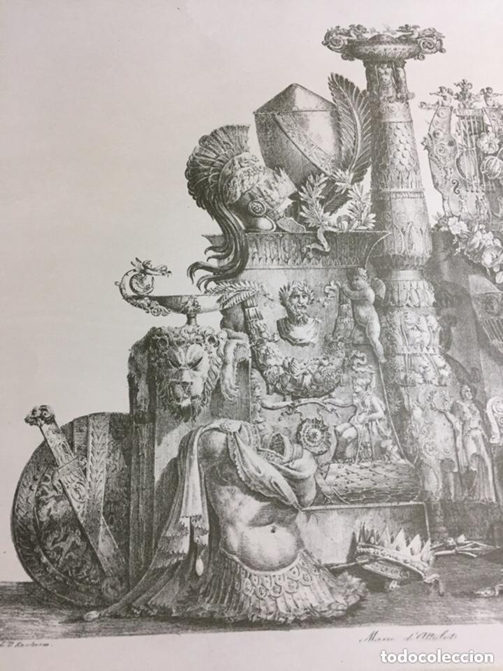 Arte: Grabado-lámina letras ilegibles 69x54cm - Foto 2 - 237920505