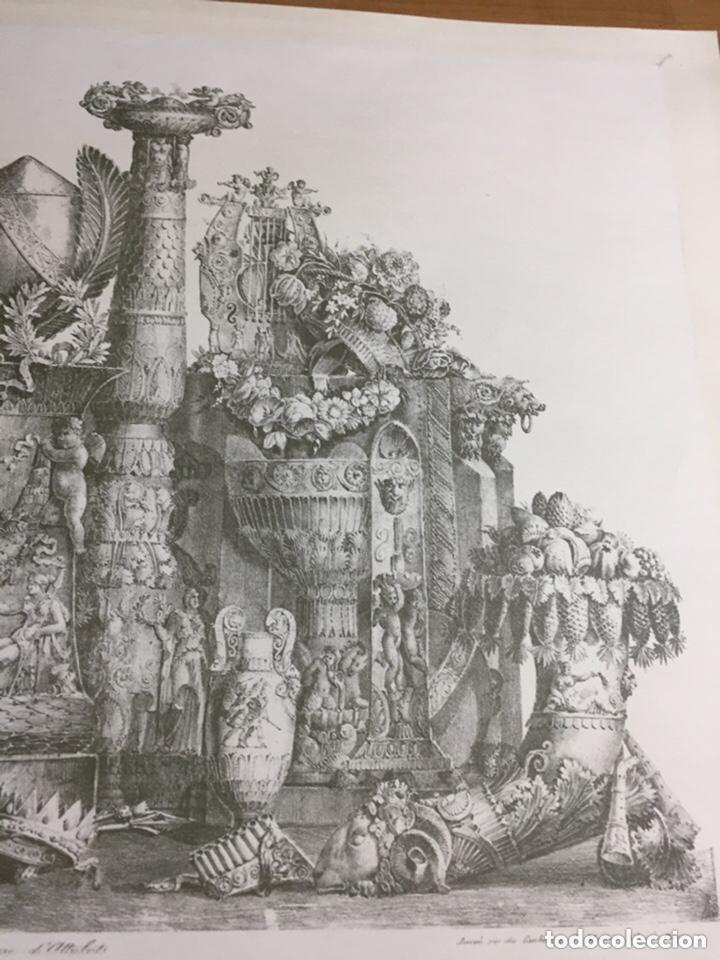 Arte: Grabado-lámina letras ilegibles 69x54cm - Foto 3 - 237920505