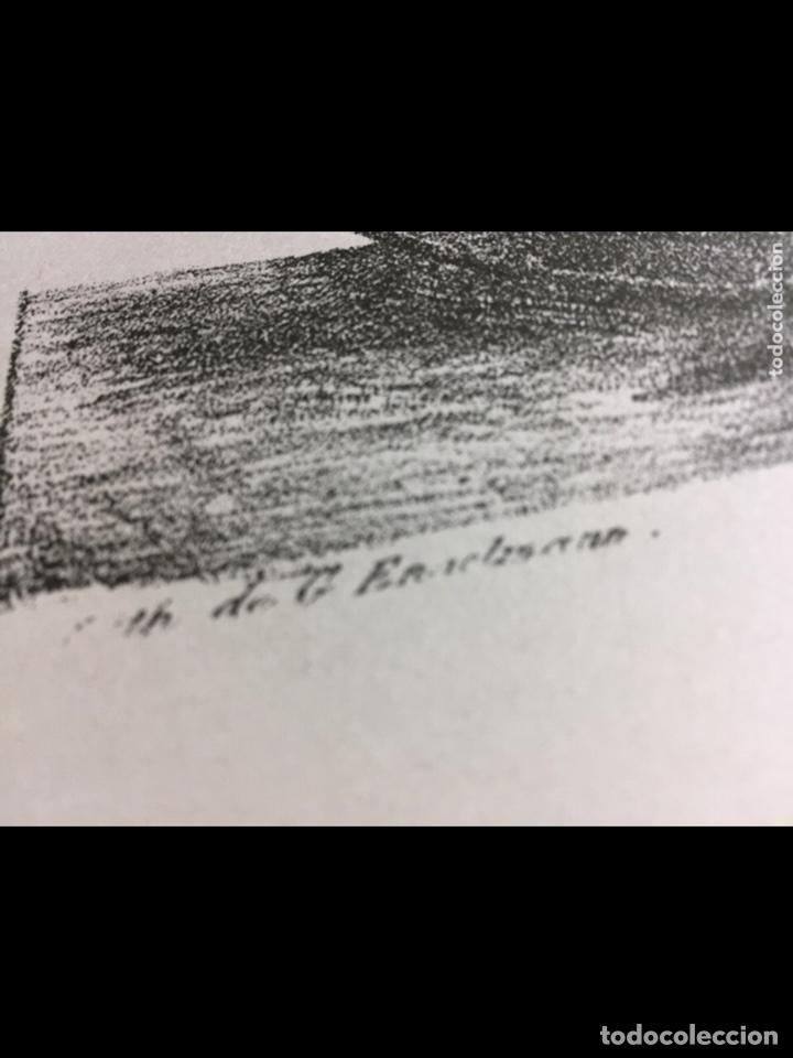 Arte: Grabado-lámina letras ilegibles 69x54cm - Foto 4 - 237920505