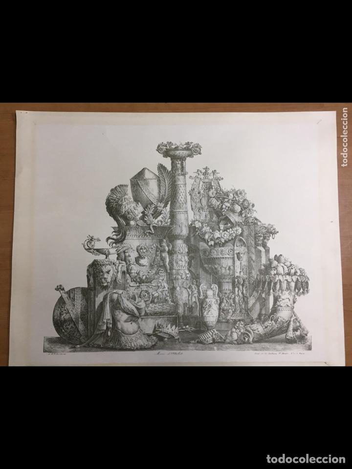 GRABADO-LÁMINA LETRAS ILEGIBLES 69X54CM (Arte - Láminas Antiguas)