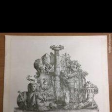 Arte: GRABADO-LÁMINA LETRAS ILEGIBLES 69X54CM. Lote 237920505