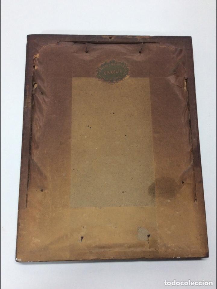 Arte: Antigua lámina enmarcada 19x15x1cm - Foto 3 - 237920890
