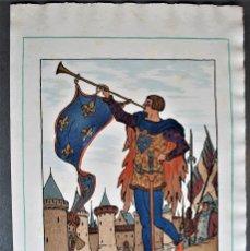 Arte: GUY ARNOUX - LE HÉRAULT D'ARMES. EL HERALDO DE ARMAS.. Lote 238625540