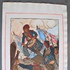 Arte: GUY ARNOUX - LES TAMBOURS DE LA LIBERTÉ. SOLDADOS TOCANDO LOS TAMBORES DE LA LIBERTAD.. Lote 238626750